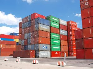 Cargo transport containers.