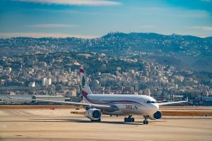 Airplane on Lebanon air stripe - moving from the USA to Lebanon