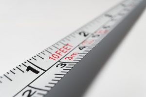 Measurement tape used to prepare artwork for global shipping