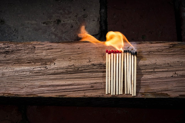 Matches are among the forbidden items for storage.