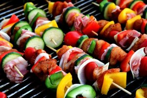 Kebabs are a popular food in Asia.