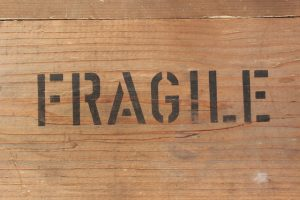 Make sure that all the boxes are marked with 'fragile'.