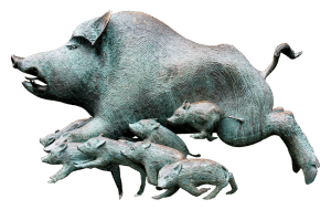 boar sculptures